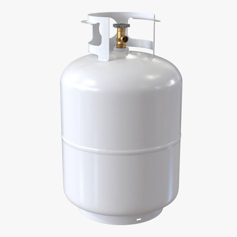 3d gas cylinder