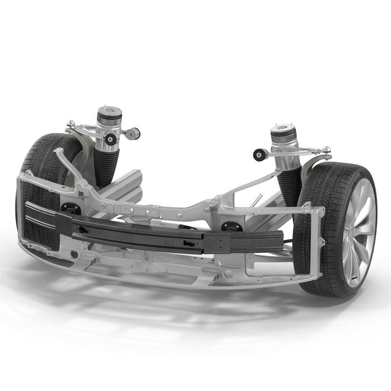 3d model of tesla s suspension modeled