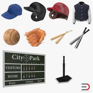 3d model baseball 5