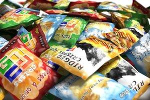 free crisp packets 3d model