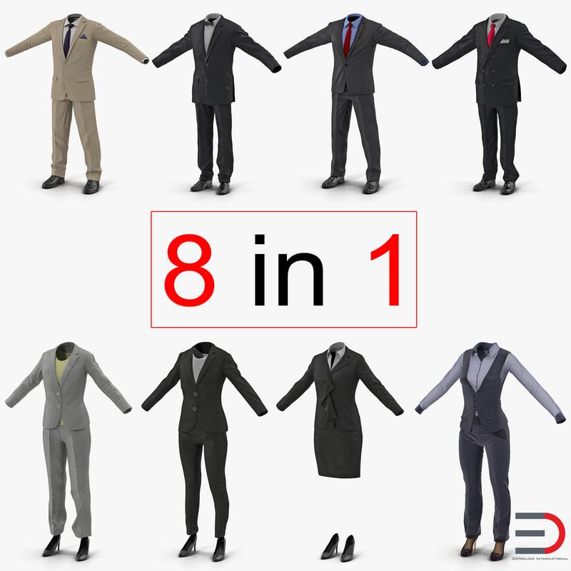workwear suits 2 3d model