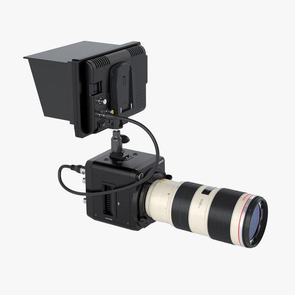 max photoreal camera canon lens