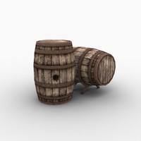 wine barrel 3d max