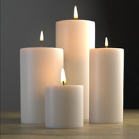 3d model candle modeled light