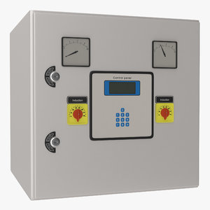 3d industrial electrical panel 5