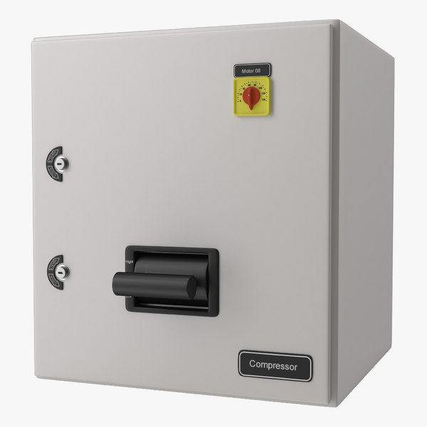 industrial electrical panel 4 3d max