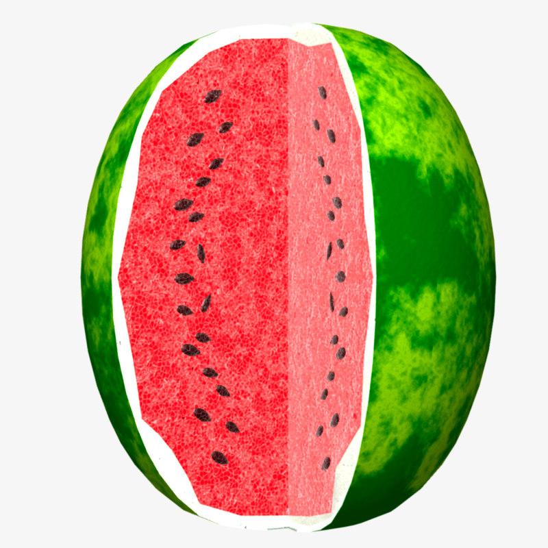 3d model of watermelon lightwave