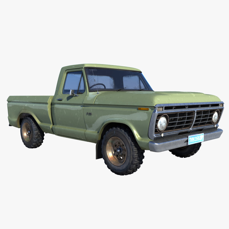 f100 truck chassis obj