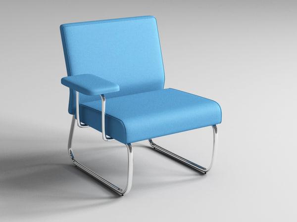 3d model slastic sofa