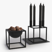 Lassen Candleholder and Bowl