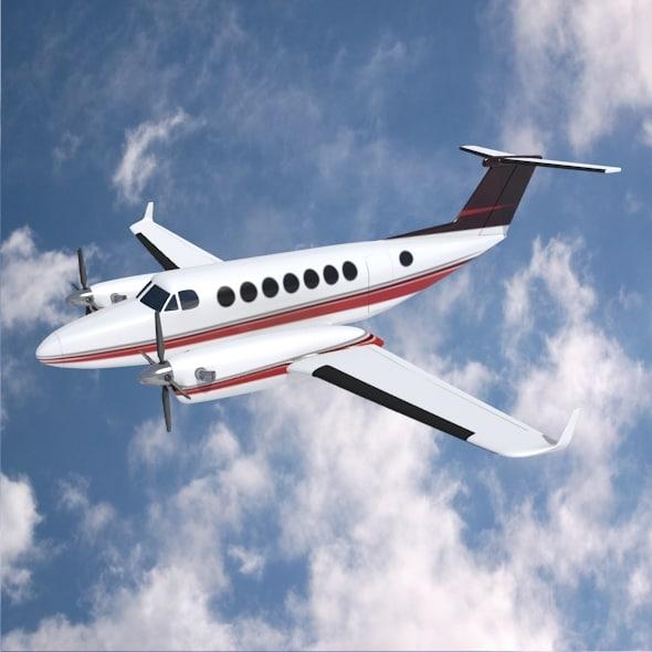 propeller aircraft 3d 3ds