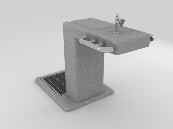 drinking fountain 3d max