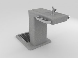 drinking fountain 3d max