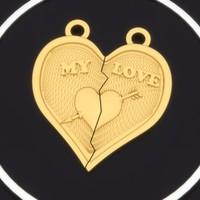 pendant broken heart 0015