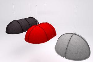 3d model hood pendant light atelje