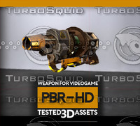 gun weapon radiation 3d fbx