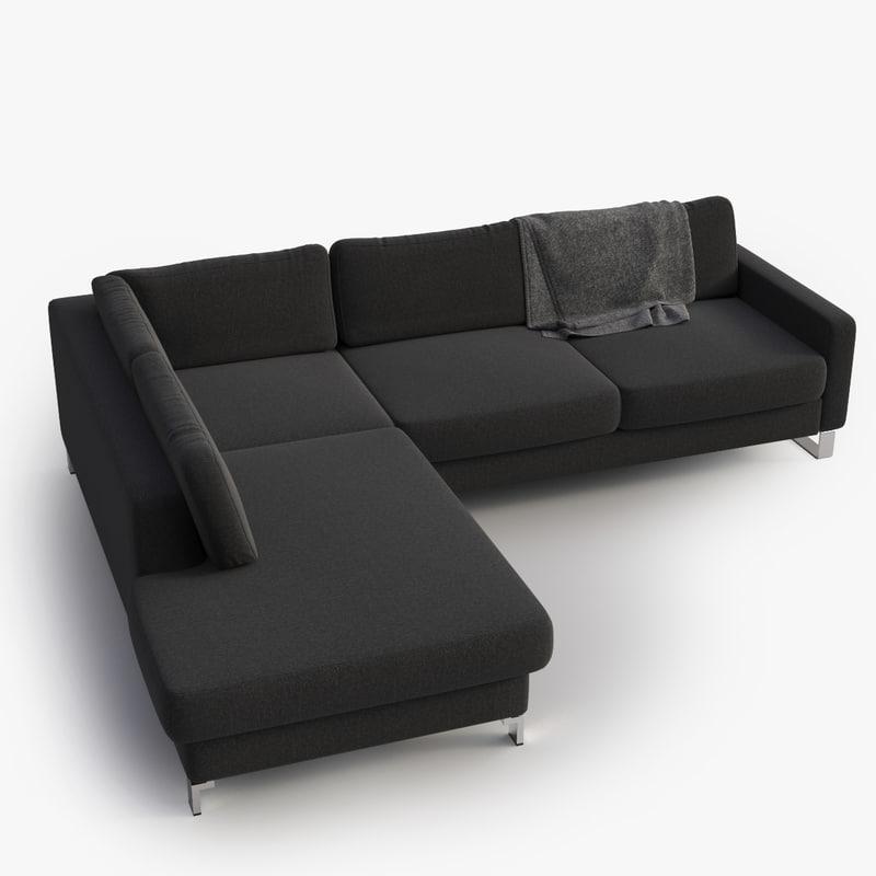 max sofa dark grey