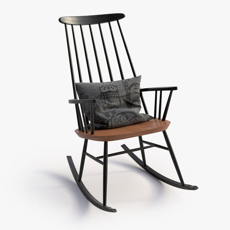 3d model scandinavian rocking chair