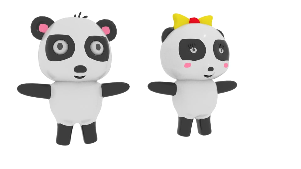 cartoon panda 3ds
