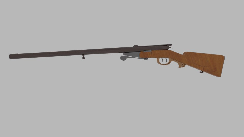 obj antique shotgun rifle