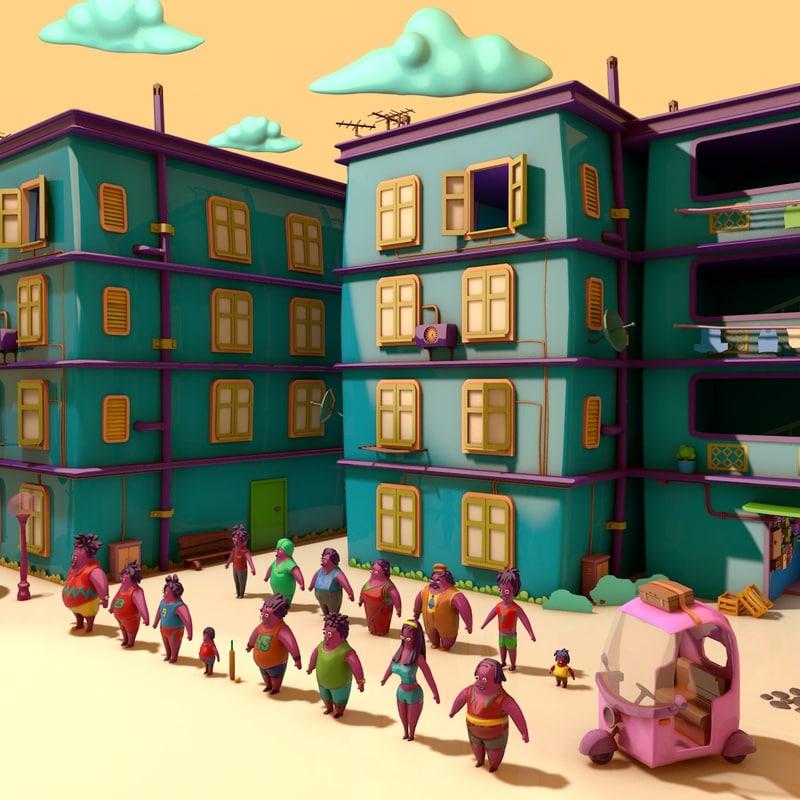 3d model pack cartoon