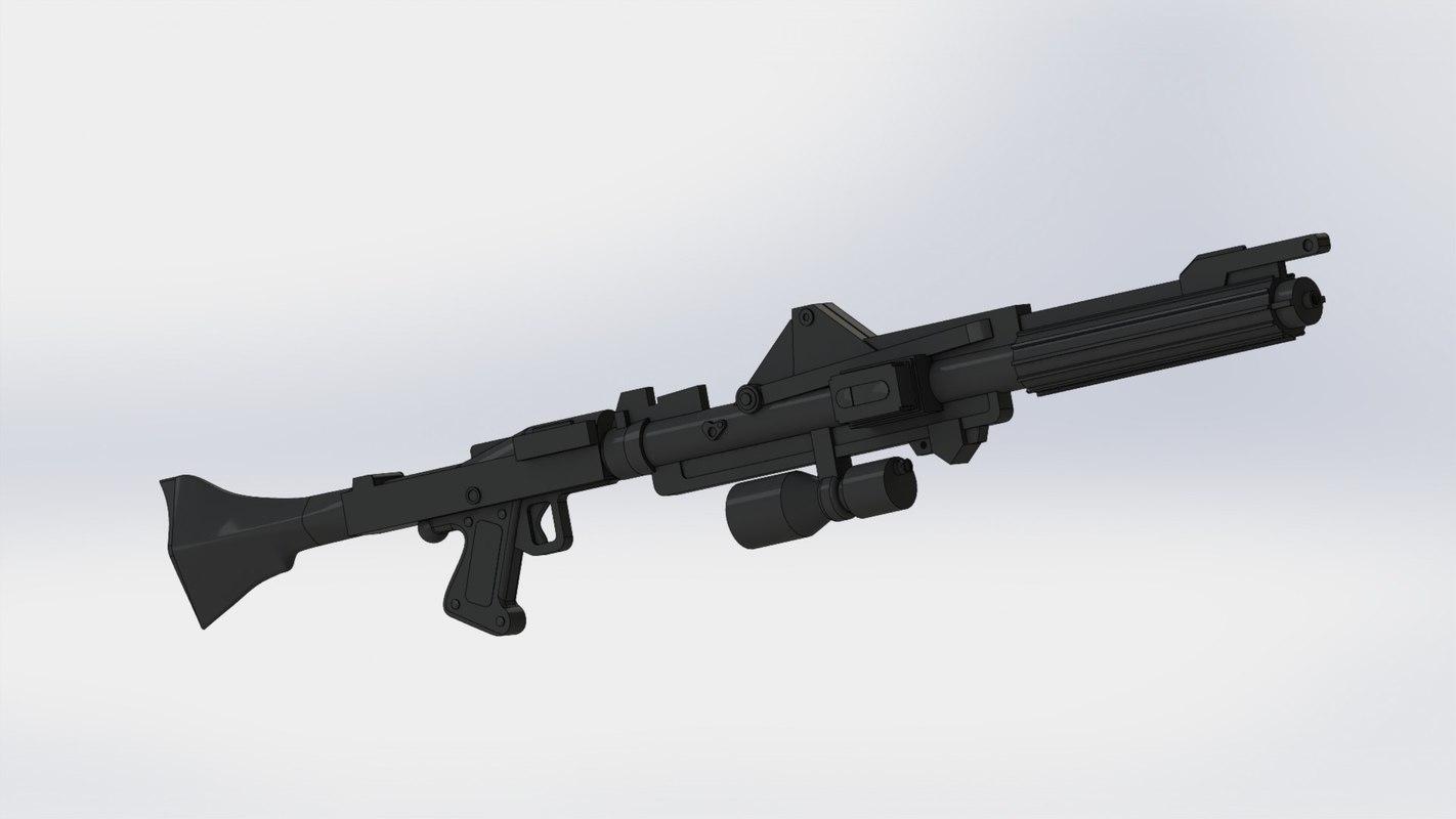 clone blaster rifle star wars 3d model. Black Bedroom Furniture Sets. Home Design Ideas