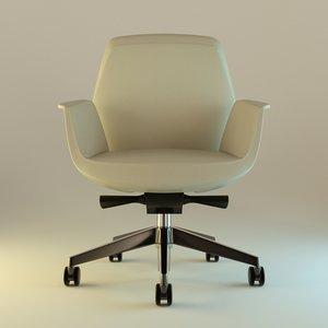 3d interior leather armchair