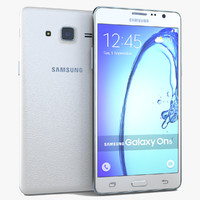 3d samsung galaxy on5 white model