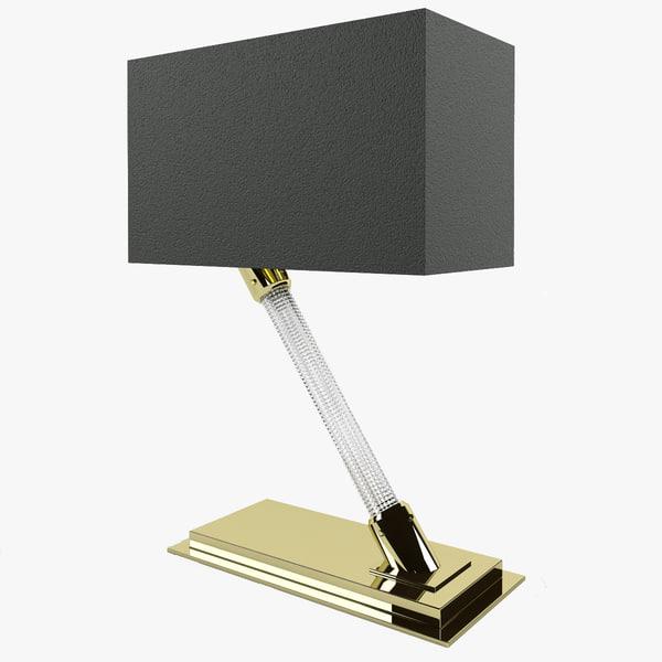 3d gold crystal model