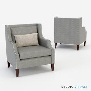 3d model carrie arm chair
