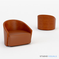 3d model bustier arm chair