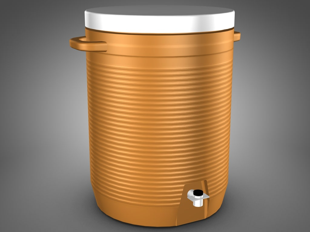 coleman water jug cooler 3d model