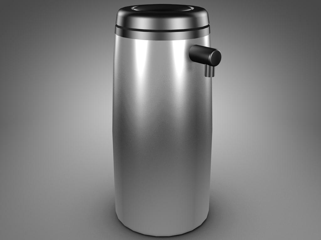 pump coffee dispenser 3d model