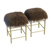3d italian brass stools