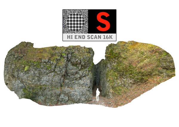 3d entrance cave model