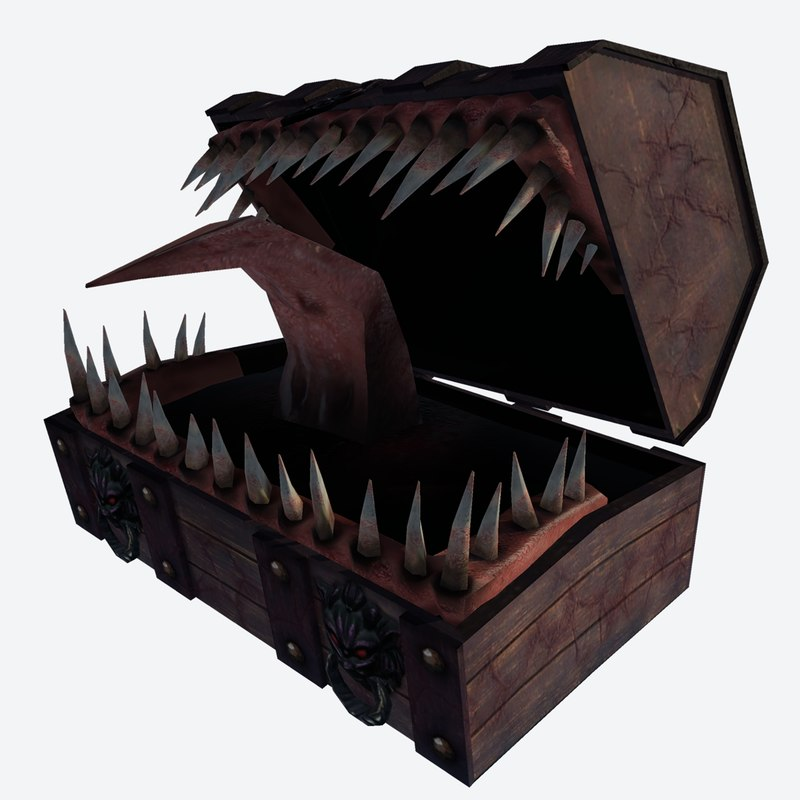 3d treasure chest mimic 1