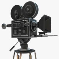 obj vintage movie camera