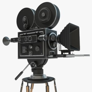 3d vintage movie camera