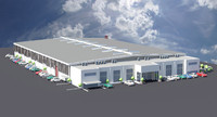 industrial logistics warehouse 3d max