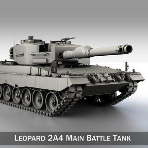 german battle tank leopard 2a4 3d model