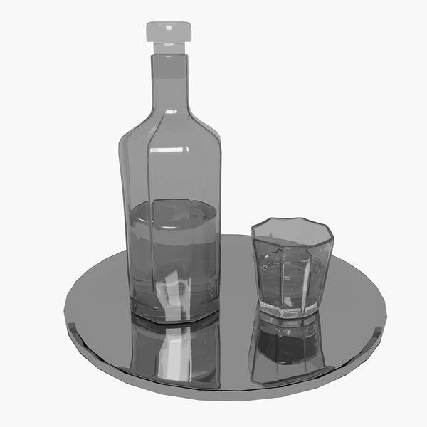 bottle glass 3d max