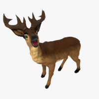 deer animal mammal 3d model
