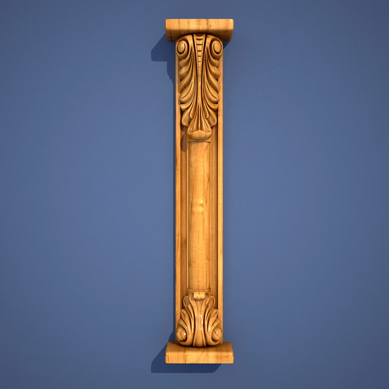3dsmax wooden column classical furniture