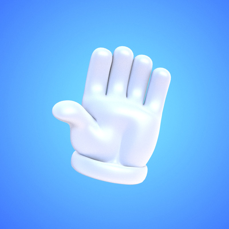 3d cartoony glove