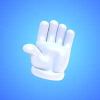 Glove cartoon hand