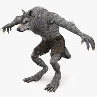 3d model werewolf creature