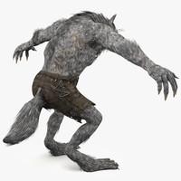 3d model werewolf creature
