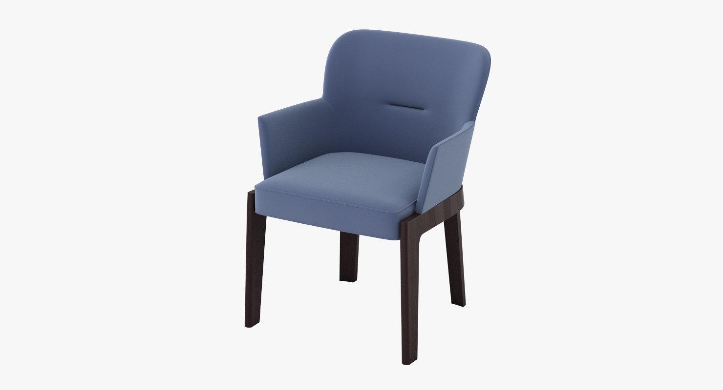 molteni c chelsea armchair 3d model