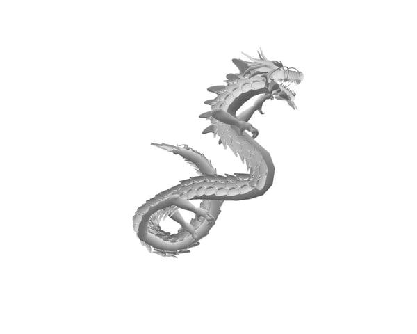 3d x chinese dragon