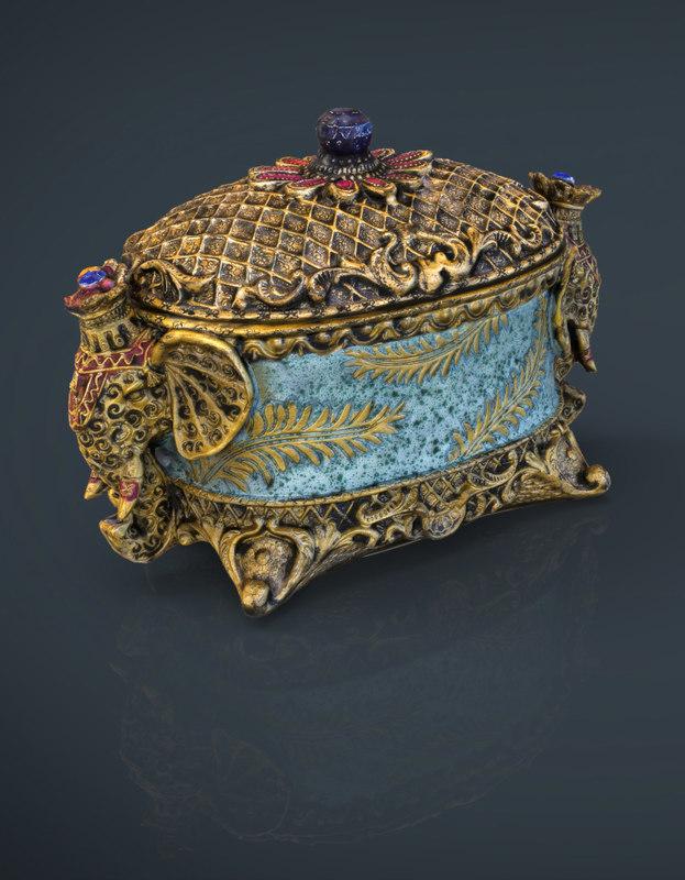 decorative jewelry box 3d model